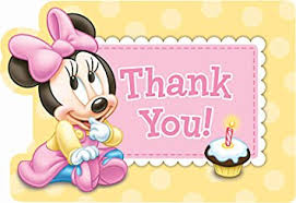 minnie mouse thank you cards minnie mouse 1st birthday thank you notes w envelopes