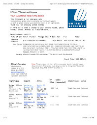 united airlines change flight fee 46 airline itinerary template flight itinerary example images