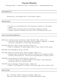 resume for a manufacturer u0027s sales rep susan ireland resumes