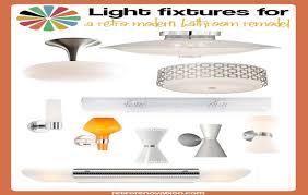 Mid Century Modern Bathroom Lighting Awesome 30 Bathroom Light Fixtures Mid Century Modern Inspiration