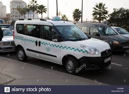 peugeot taxi peugeot partner taxi parked in casablanca morocco stock photo