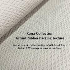 fancy moroccan trellis non slip doormat accent rug rubber backed