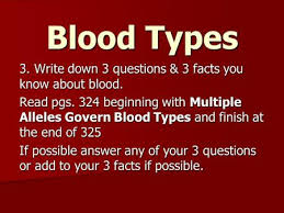 multiple alleles and human blood types many human traits are