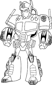 transformers optimus prime robot coloring page wecoloringpage