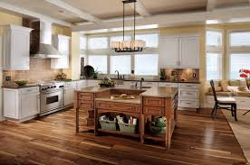 Kitchen Cabinets With Island Interior Design Classic Chandelier With Granite Countertop And