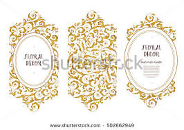 Art Frame Design Vector Set Frames Vignette Design Template Stock Vector 459670459