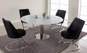 Round Glass Dining Table Set For 6 Chair Frosted Glass Dining Table And 6 Chairs Enterpr Frosted