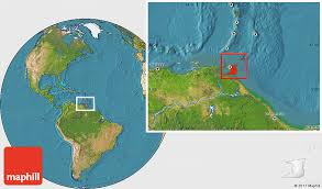 where is and tobago located on the world map satellite location map of and tobago