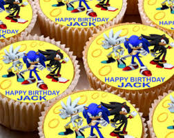 sonic the hedgehog cake topper sonic cupcake toppers etsy