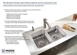 home depot double stainless steel sink moen 2200 series drop in stainless steel 33 in 4 hole double bowl