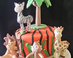jungle cake topper jungle baby shower safari baby shower
