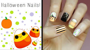 halloween nails cute u0026 easy design youtube