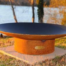 wood burning fire table fire pit art asia 48 inch wood burning fire pit ultimate patio