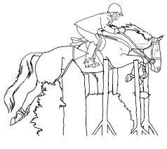 coloriage a imprimer de cheval qui saute 1001 animaux