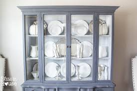 Display Dishes In China Cabinet French Provincial China Cabinet Makeover