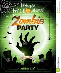 a halloween background vector illustration on a halloween zombie party th royalty free