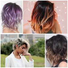 colorful short hair styles hottest hair color ideas 2018 hairstyles 2018 new haircuts and