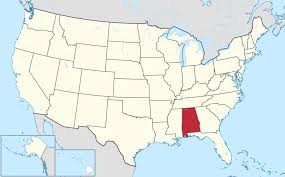 map usa all states alabama state name origin