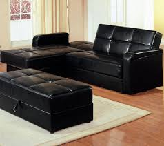 small black leather ottoman with storage u2014 railing stairs and