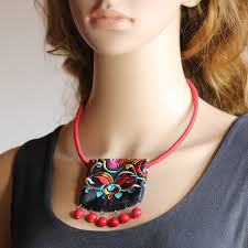 colored necklace images Original pure handmade chinese style short necklace colored jpg