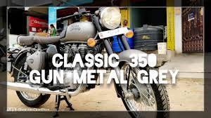 gun metal grey royal enfield classic 350 bs4 with loop