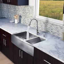 Stainless Steel Farm Sinks For Kitchens Vigo Basin Stainless Steel Apron Front Kitchen Sink