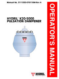 manual hydrill k20 5000 valve leak