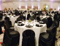 chair covers and linens white tablecloths black runner black napkins black chair covers