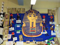 egyptian display with egyptian gods and tutankhamun great class
