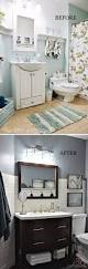 before and after 20 awesome bathroom makeovers dark furniture