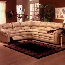 Real Leather Recliner Sofas by Buchannan Faux Leather Corner Sectional Sofa Chestnut Best Home