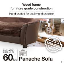 Enchanted Home Storage Ottoman Enchanted Home Pet Ultra Plush Brown Panache Pet Bed Sofa Free
