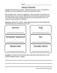 sound worksheet pitch science worksheets physical science and