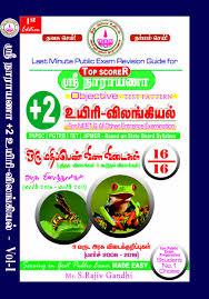 sri narayana publication plus two chemistry guide narayana