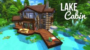 lake cabin sims 4 house build youtube