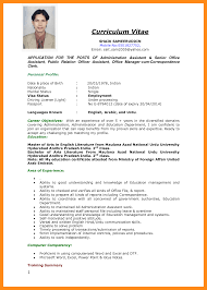 international curriculum vitae format pdf resume format for job application for freshers krida info