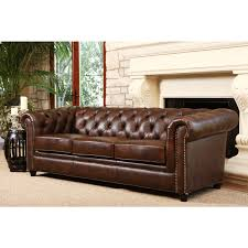Tufted Brown Leather Sofa Popular Of Tufted Brown Leather Sofa Abson Living Vista Tufted