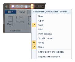 quick access toolbar windows
