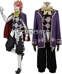 Black Butler Halloween Costumes Butler Book Circus Joker Cosplay Costume