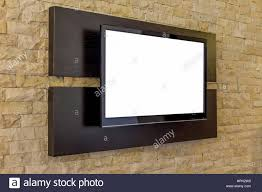 tv display on new brick wall background modern living room
