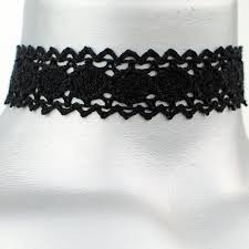black ribbon choker necklace images 20mm 3 4 quot plain black scalloped cluny lace ribbon choker JPG