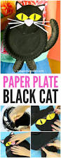 black cat paper plate craft paper plate crafts black cats and cat