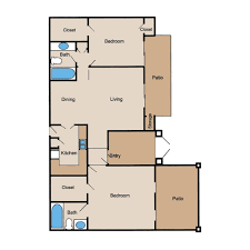 Patio Floor Plans Floor Plans Creole Yorktown Luxury Apartments Living In The