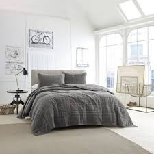 What Is Coverlet In Bedding Buy Grey Quilted Coverlet From Bed Bath U0026 Beyond