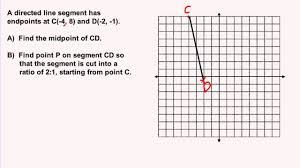 Midpoint Of A Line Segment Worksheet Partitioning A Segment Youtube