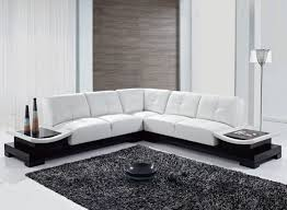 Living Room L Tables Cozy Living Room Interior Design With White L Shape Leather Sofa