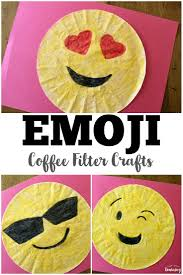 coffee filter crafts for kids coffee filter emoji crafts look