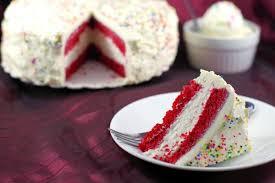 red velvet ice cream cake food meanderings