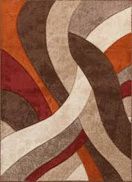 Orange And Brown Area Rugs Payless Rugs Alpha Collection On Sale