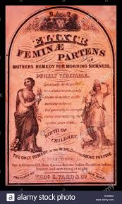 native indian plants patent medicine label illustrated with two women one an american